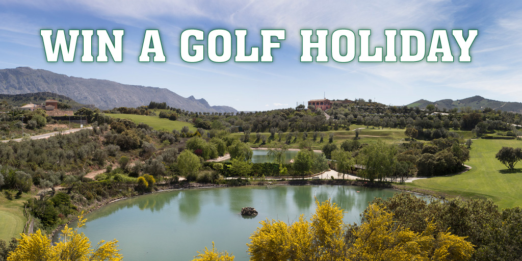 Submit your scores to win a golf holiday