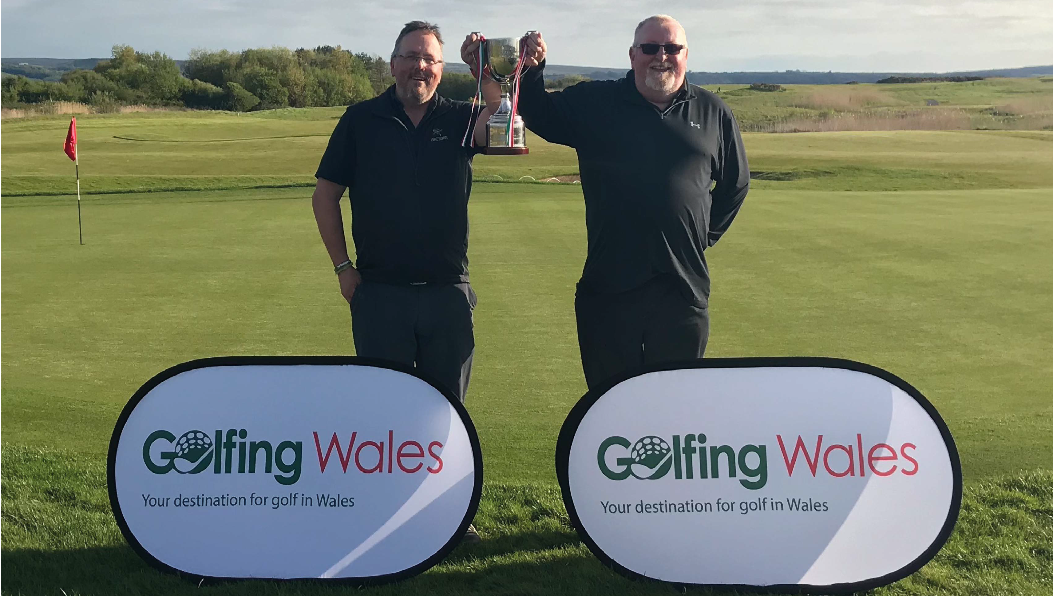 Martin Like & Brian Evans win the 2018 Golfing Wales Challenge Cup