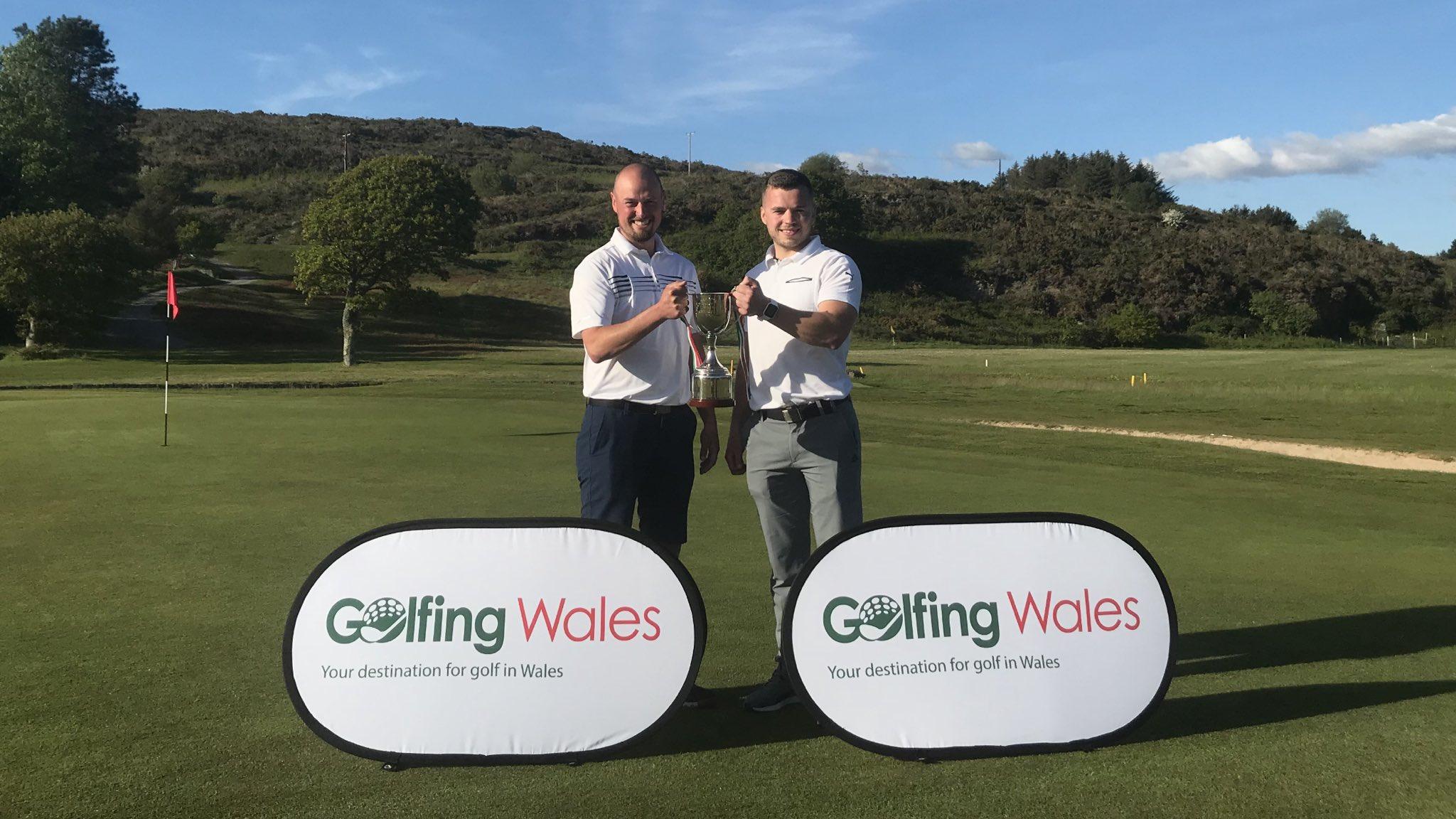 Elfyn Griffiths & Gareth Lloyd Williams win the 2019 Golfing Wales Challenge Cup