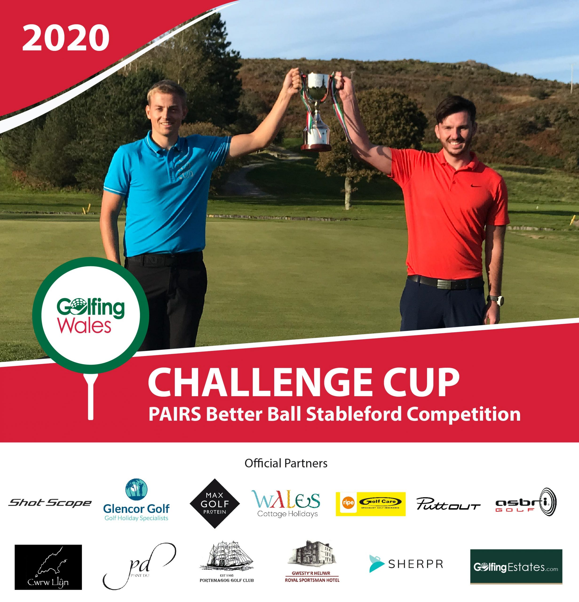 Meilir Huws & Sion Caelloi Jones win the 2020 Golfing Wales Challenge Cup